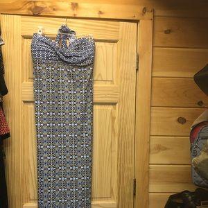 Tommy Bahamas long halter dress, brand new